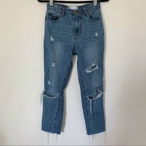 RSQ Distressed Mom Jeans